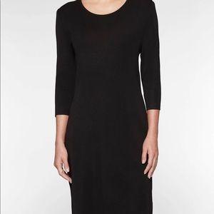 Miss Sixty Black Sheath 3/4 Sleeved Dress Size LG